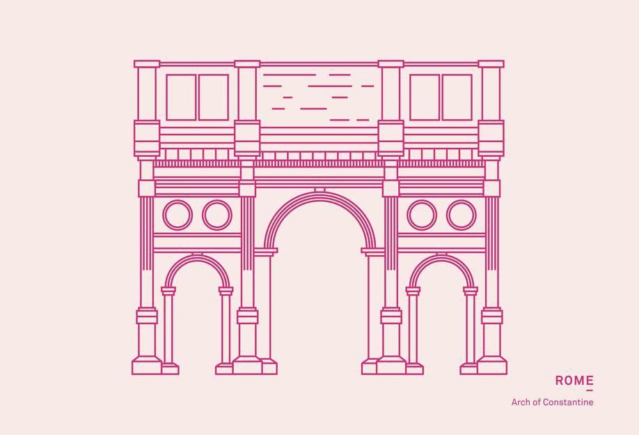Rome -Acrylglasbild