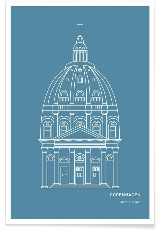 Copenhagen, Sights & Landmarks, Marble Church Poster
