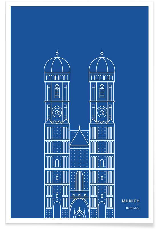 Munich, Monuments et vues, Cathédrale de Munich affiche