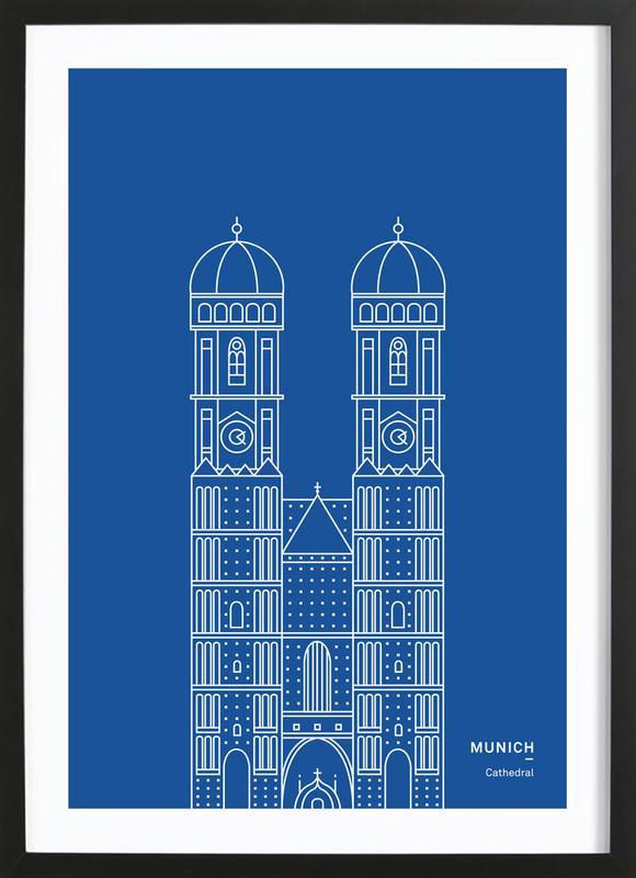 Munich ingelijste print