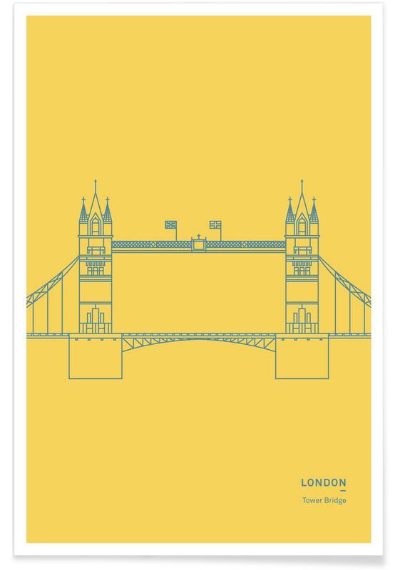 Bezienswaardigheden en monumenten, Londen, Bruggen, London Tower Bridge poster