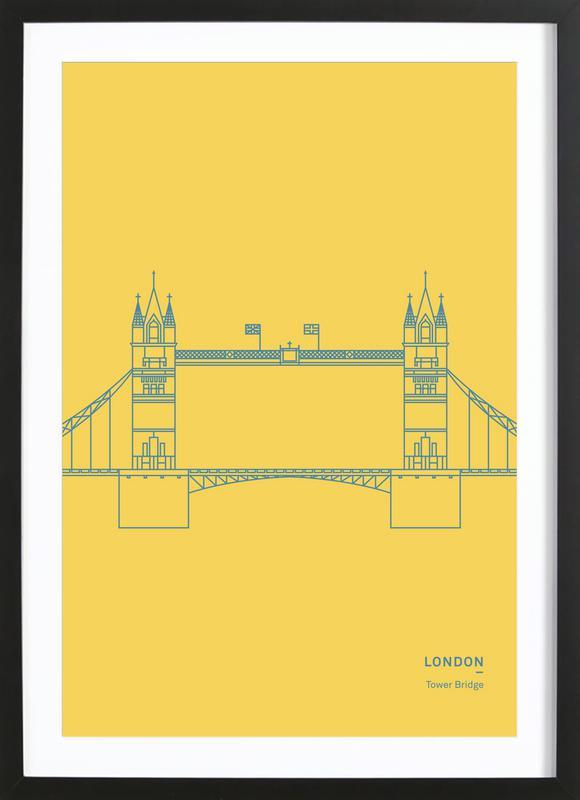 London ingelijste print