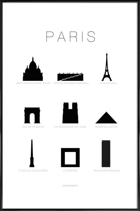 Paris -Bild mit Kunststoffrahmen