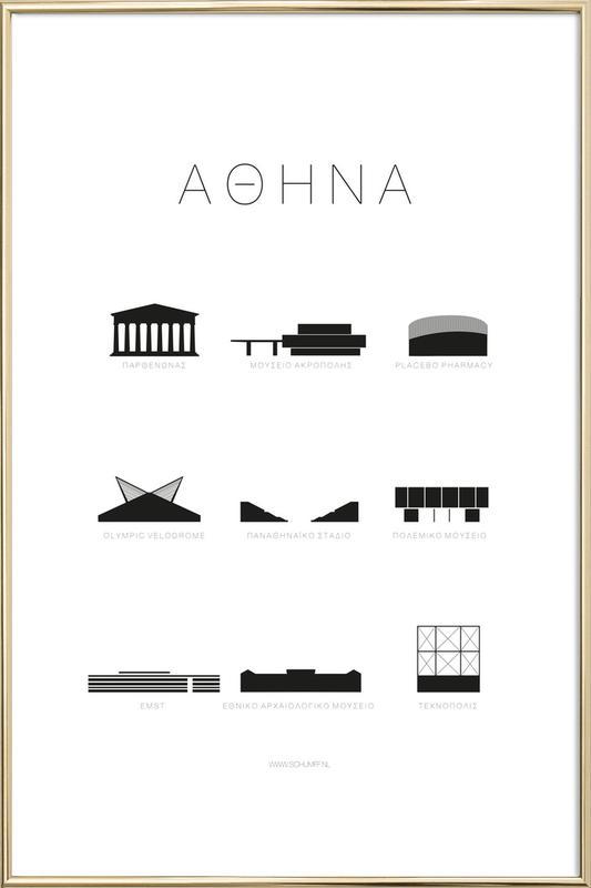 Athene -Poster im Alurahmen