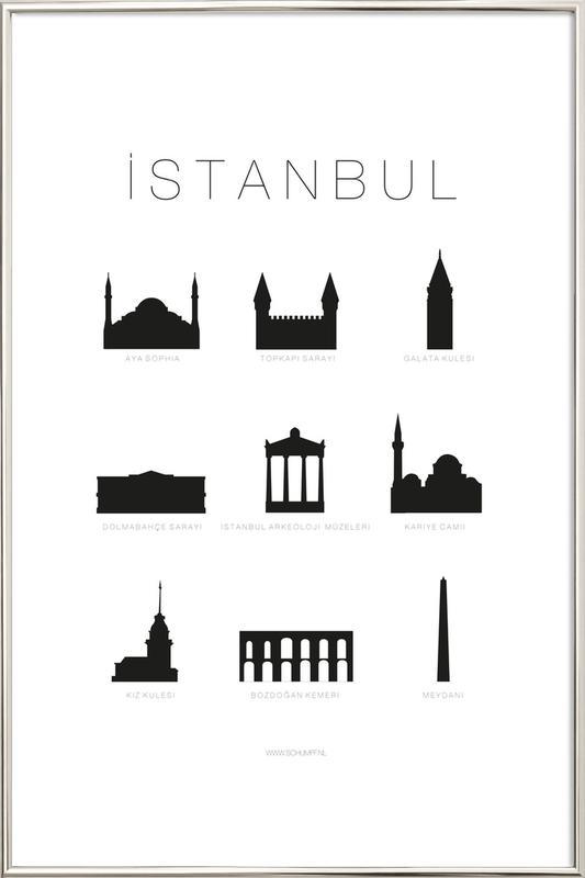 Istanbul -Poster im Alurahmen