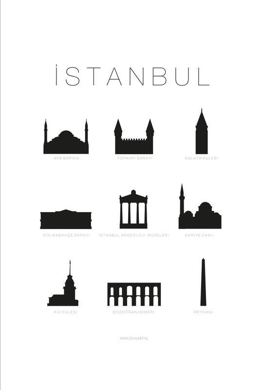 Istanbul -Acrylglasbild