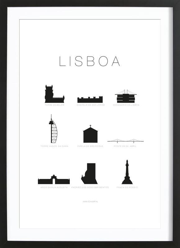Lisboa -Bild mit Holzrahmen