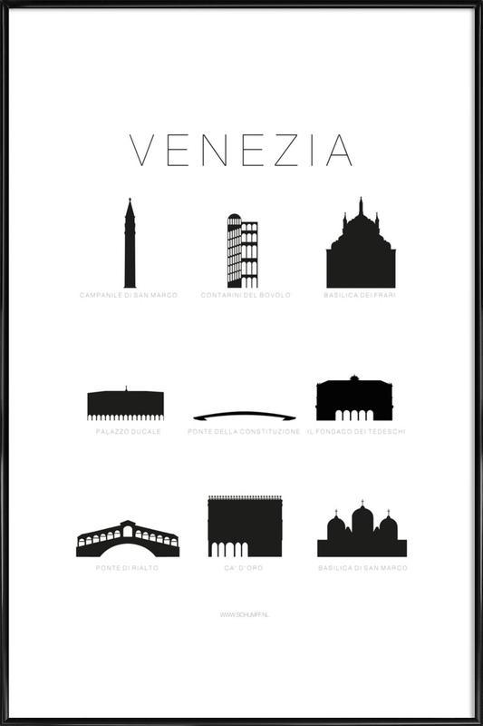 Venezia -Bild mit Kunststoffrahmen