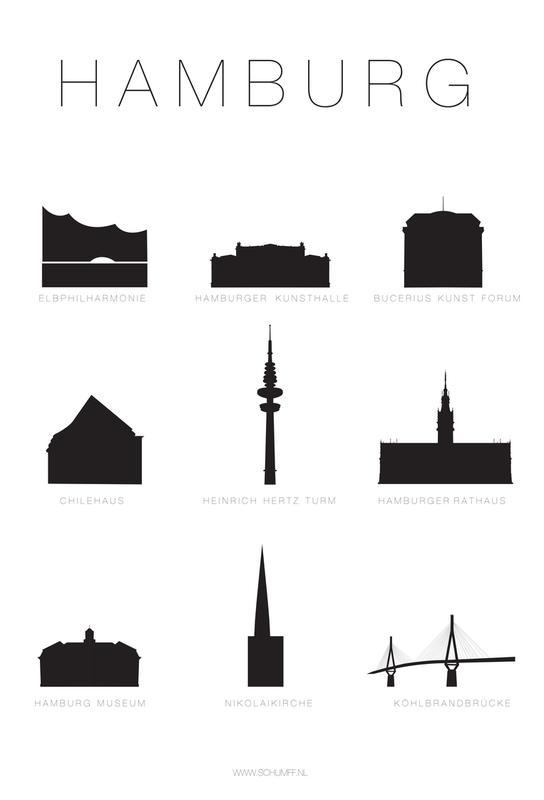 Hamburg -Alubild