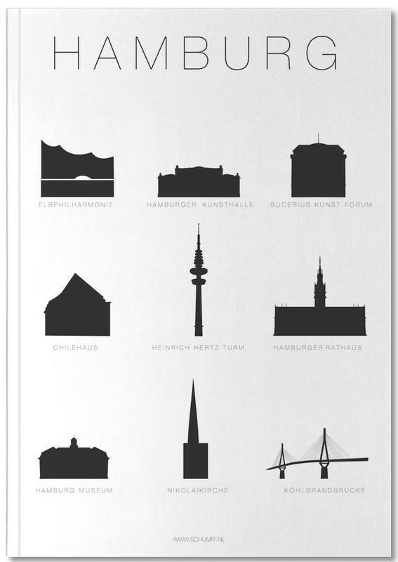 Noir & blanc, Hambourg, Hamburg Notebook