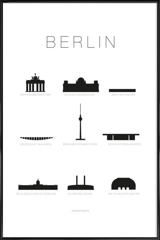 Berlin Icons Framed Poster
