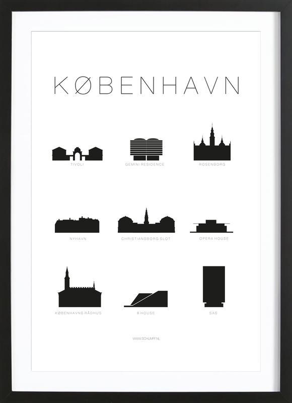 København -Bild mit Holzrahmen