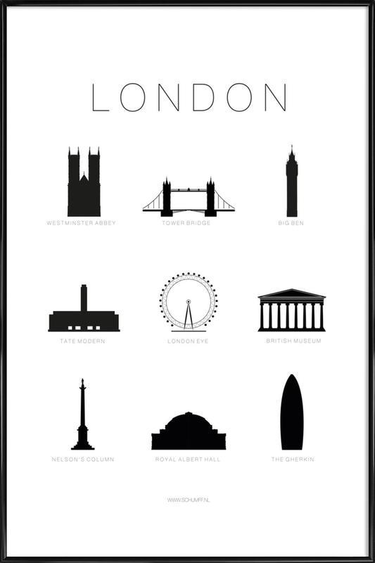 London -Bild mit Kunststoffrahmen