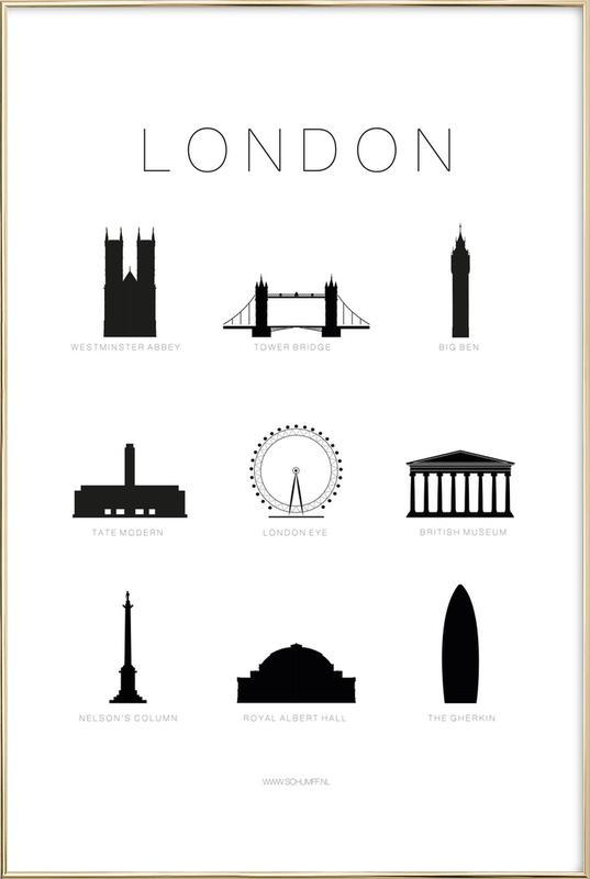 London -Poster im Alurahmen