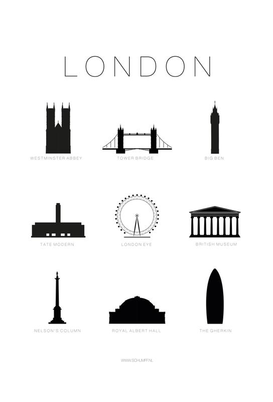 London acrylglas print