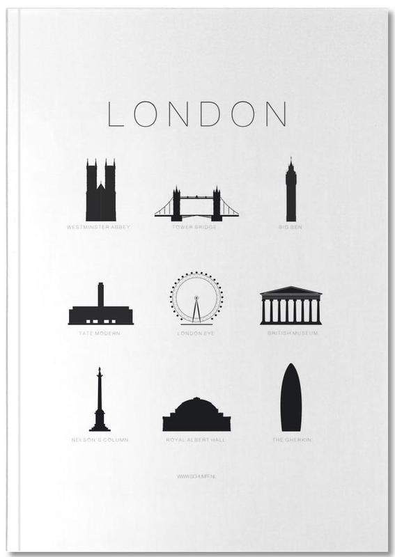 Black & White, Sights & Landmarks, London, London Notebook