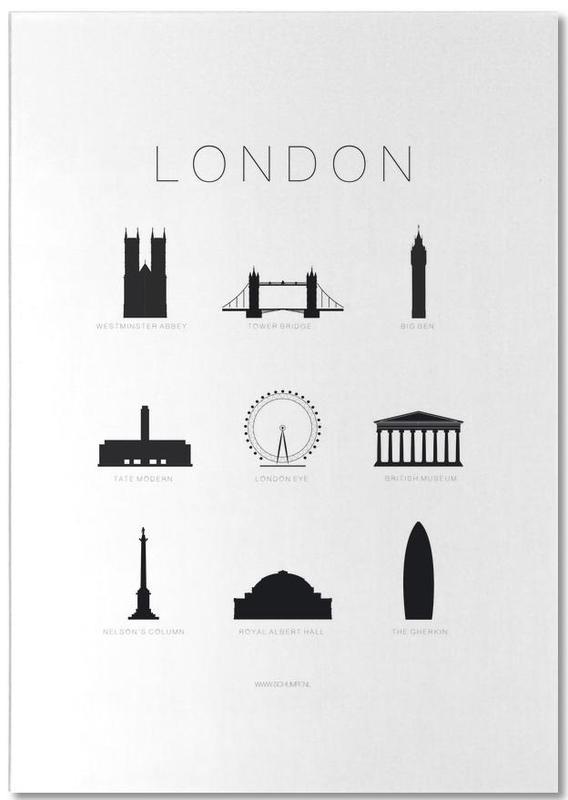 Black & White, London, Sights & Landmarks, London Notepad