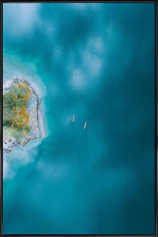 Kayaking -Bild mit Kunststoffrahmen