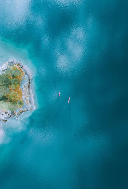 Kayaking -Acrylglasbild
