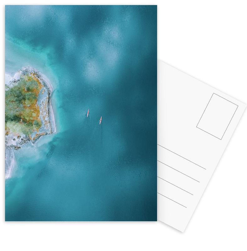 Oceanen, zeeën en meren, Kayaking ansichtkaartenset
