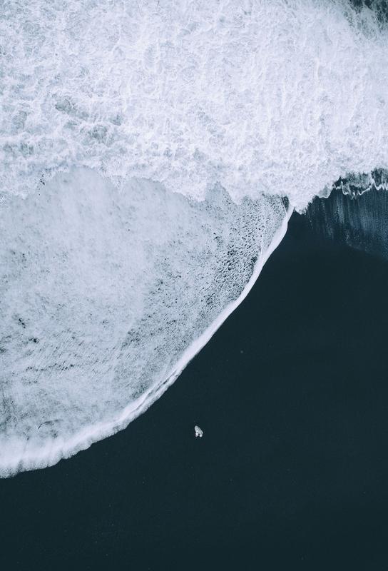 Black Beach -Alubild