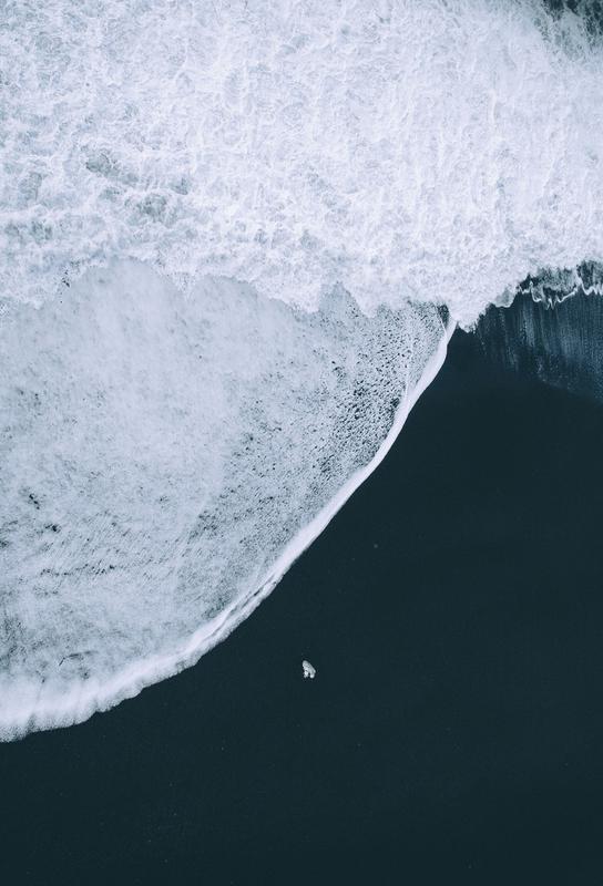 Black Beach Impression sur alu-Dibond