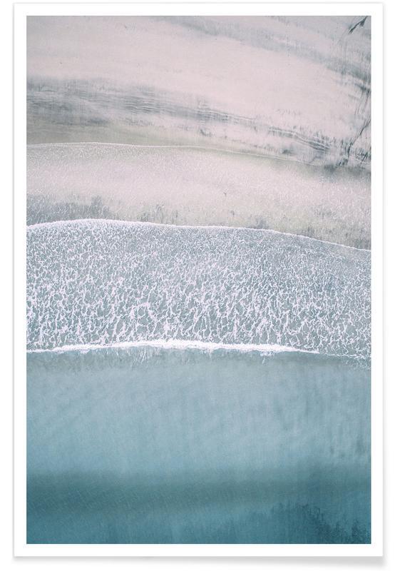Plage de Lofoten - Photo lumineuse affiche