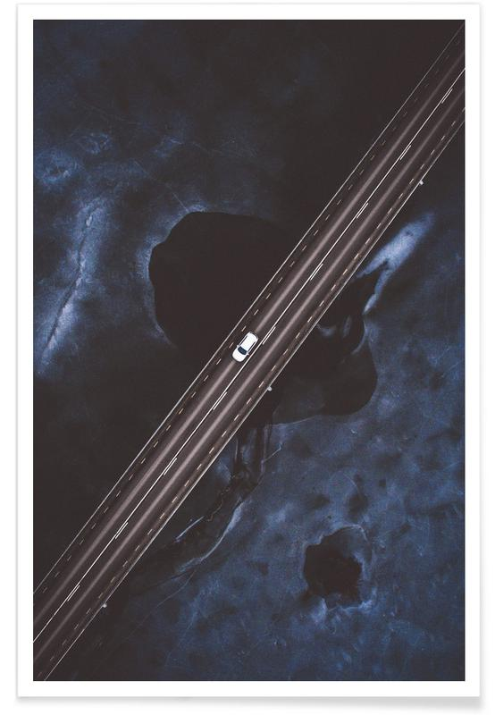 Ice Highway Aerial Photograph Poster