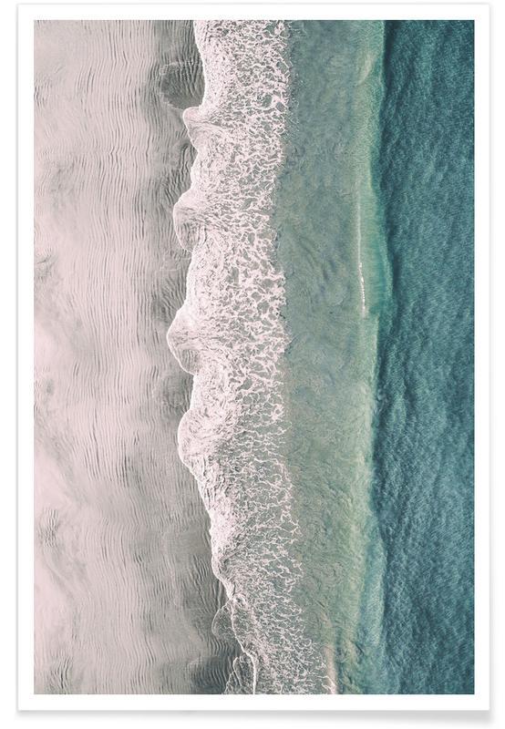 Beaches, Ocean Waves Light Photograph Poster