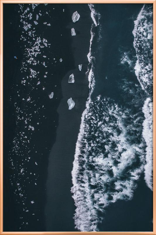Diamond Beach 1 Poster in Aluminium Frame