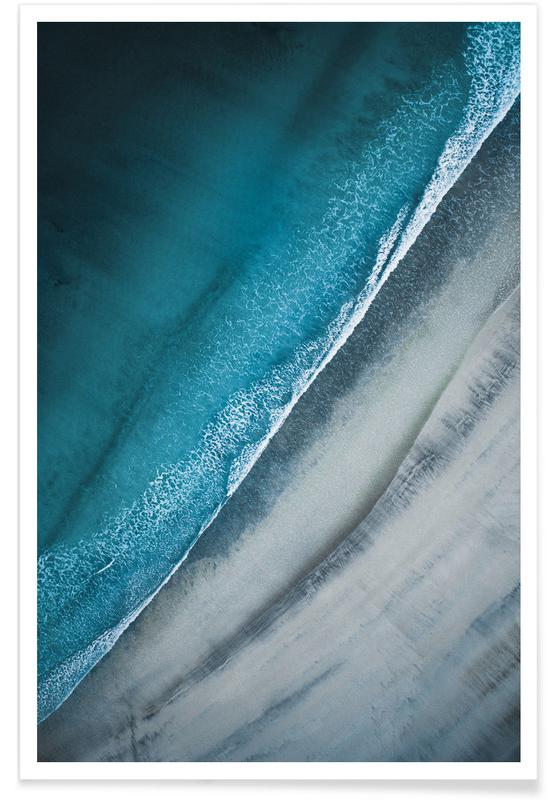 Strände, Dunkle Lofoten-Strand-Fotografie -Poster