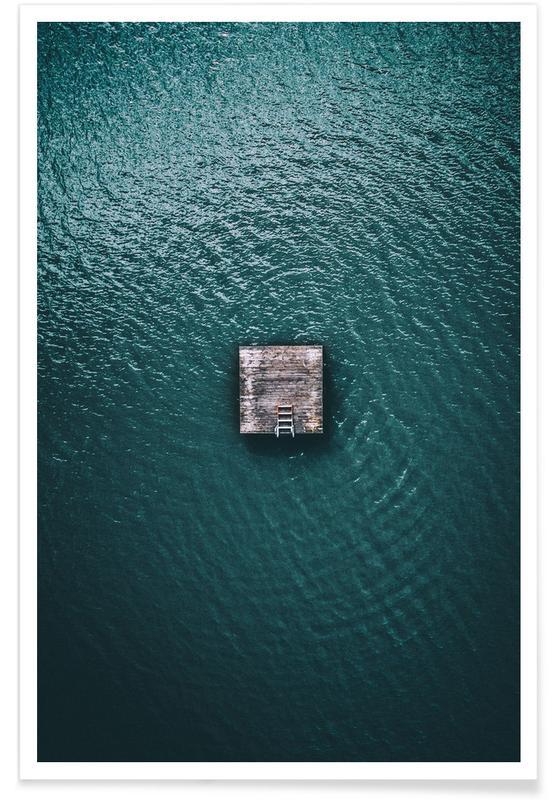 Ocean Cabin Aerial Photograph Poster