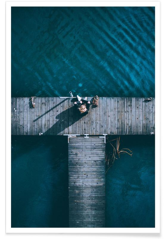 Jetty Aerial Photograph Poster
