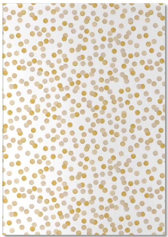 Kinderzimmer & Kunst für Kinder, Muster, Glückwünsche, Gold Confetti -Notizblock