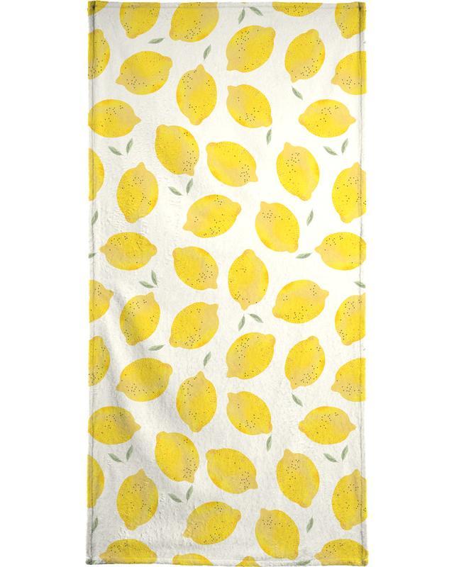 Lemon -Strandtuch