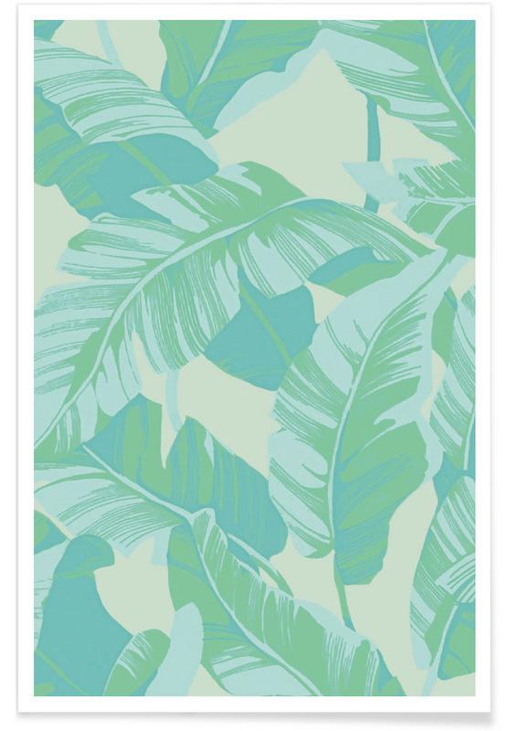 Feuilles & Plantes, Banana Leaves affiche