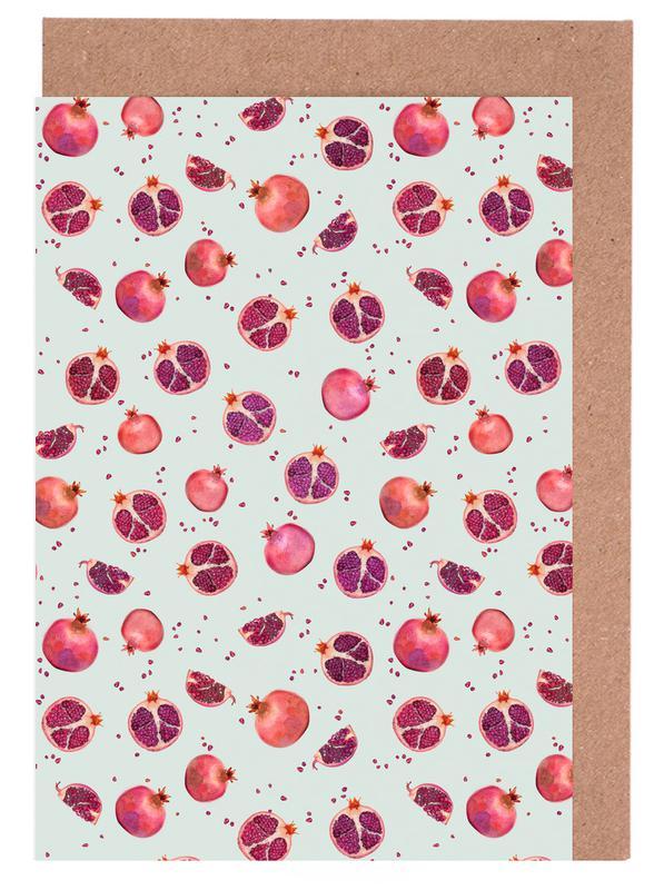 Pomegranate Greeting Card Set