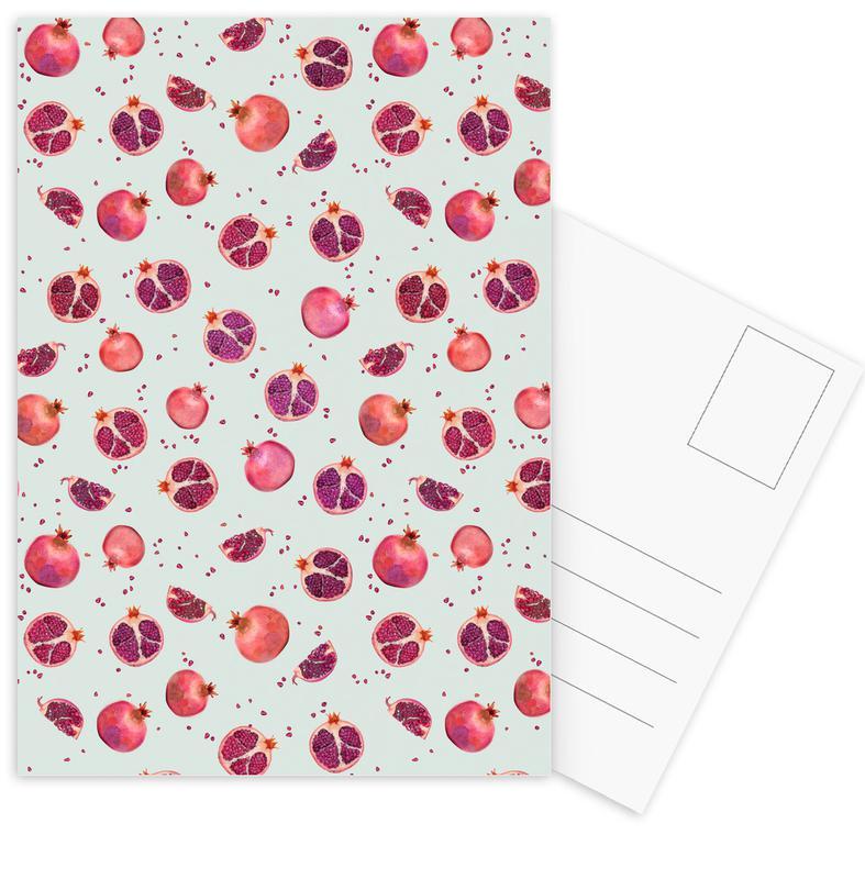Pomegranate Postcard Set