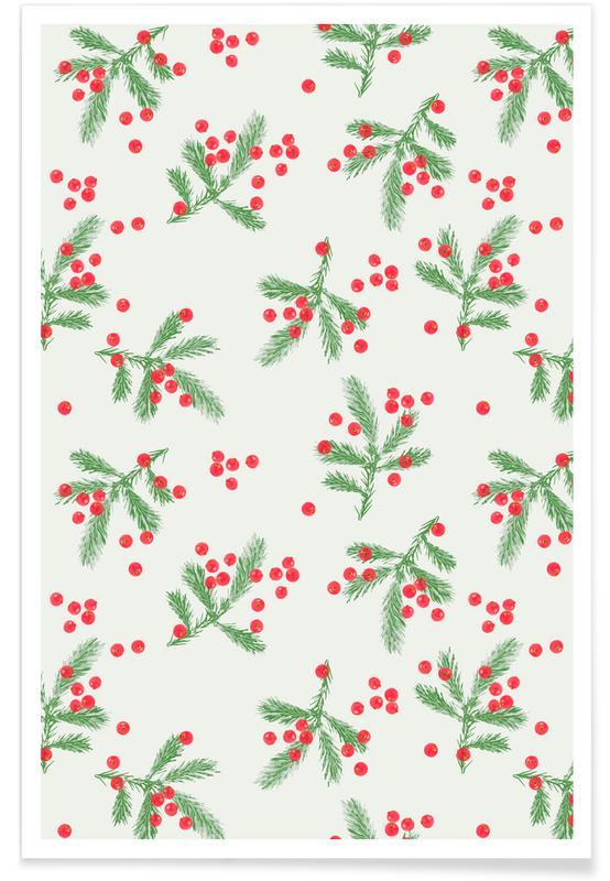 Weihnachten, Christmas Berries -Poster
