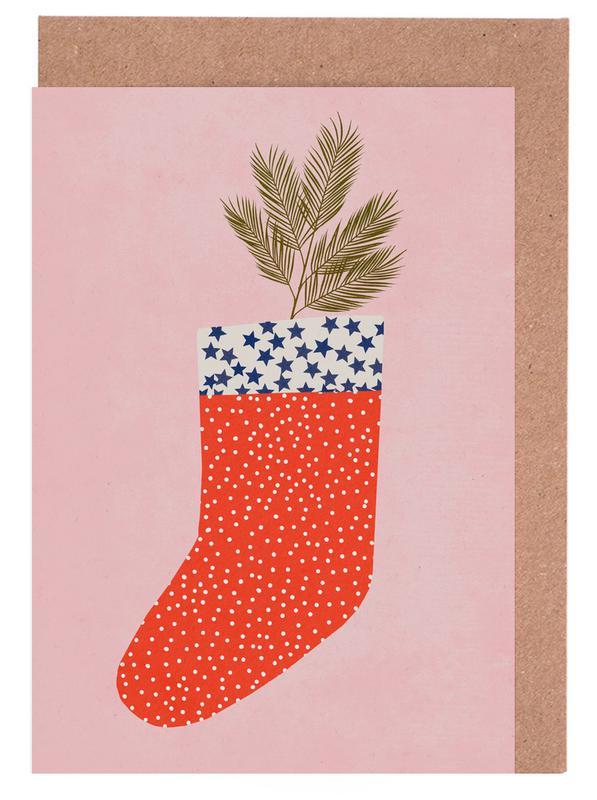 Christmas Sock Greeting Card Set
