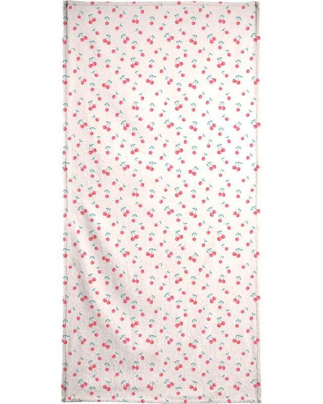Patterns, Berries, Cherries Bath Towel