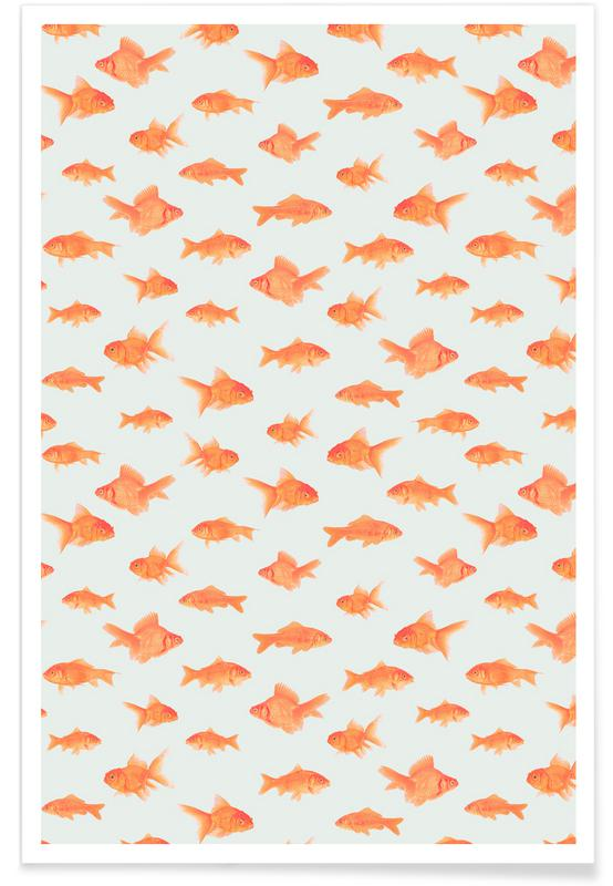 Muster, Fische, Goldfish -Poster