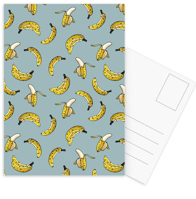 Patterns, Bananas, Banana Postcard Set