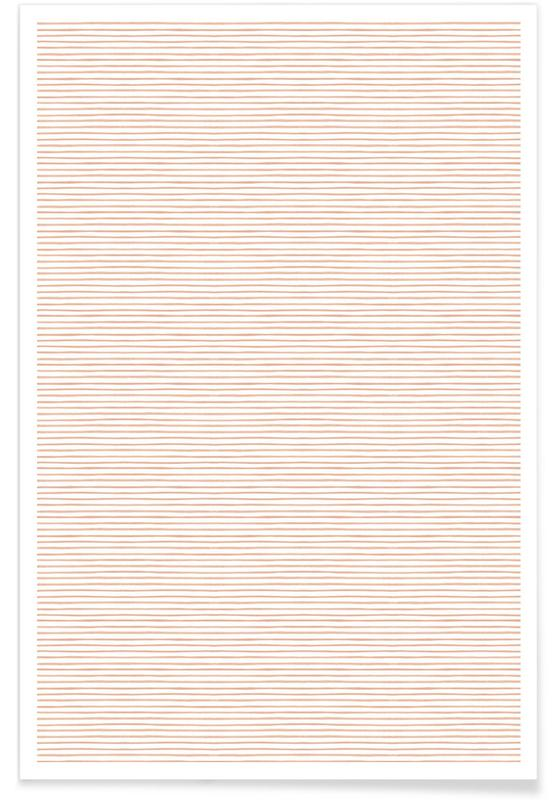 Muster, Blush Watercolor Stripes -Poster