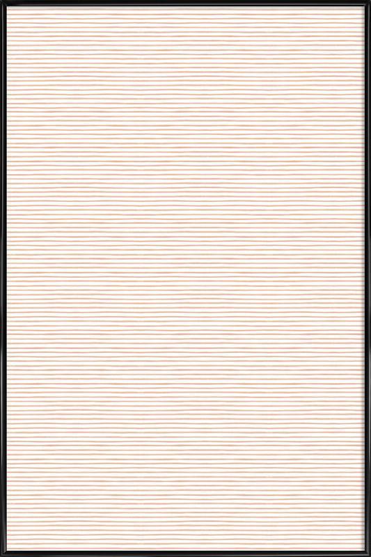 Blush Watercolor Stripes Framed Poster