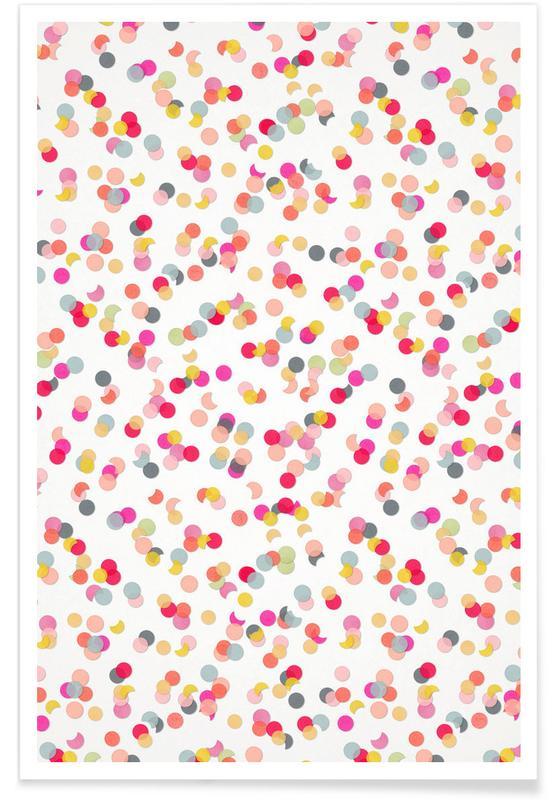 Art pour enfants, Anniversaires, Félicitations, Motifs, Confetti Mix Pink affiche