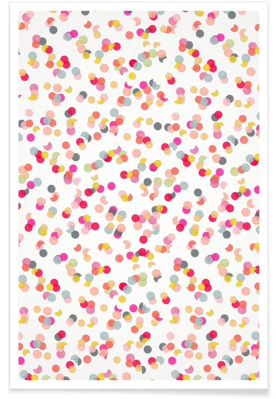 Confetti Mix Pink -Poster