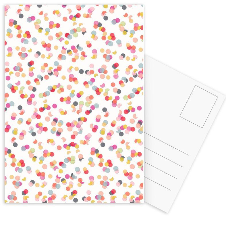 Confetti Mix Pink -Postkartenset