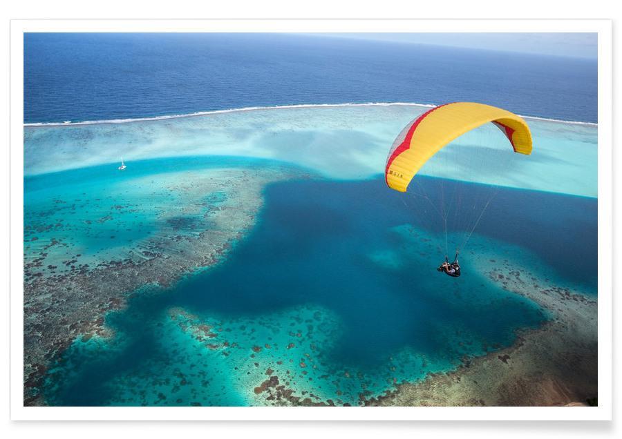Ozeane, Meere & Seen, Paragliding French Polynesia -Poster