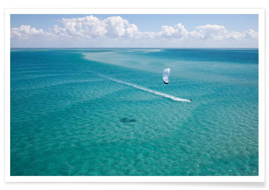 Ozeane, Meere & Seen, Kiteboarding Mozambique -Poster